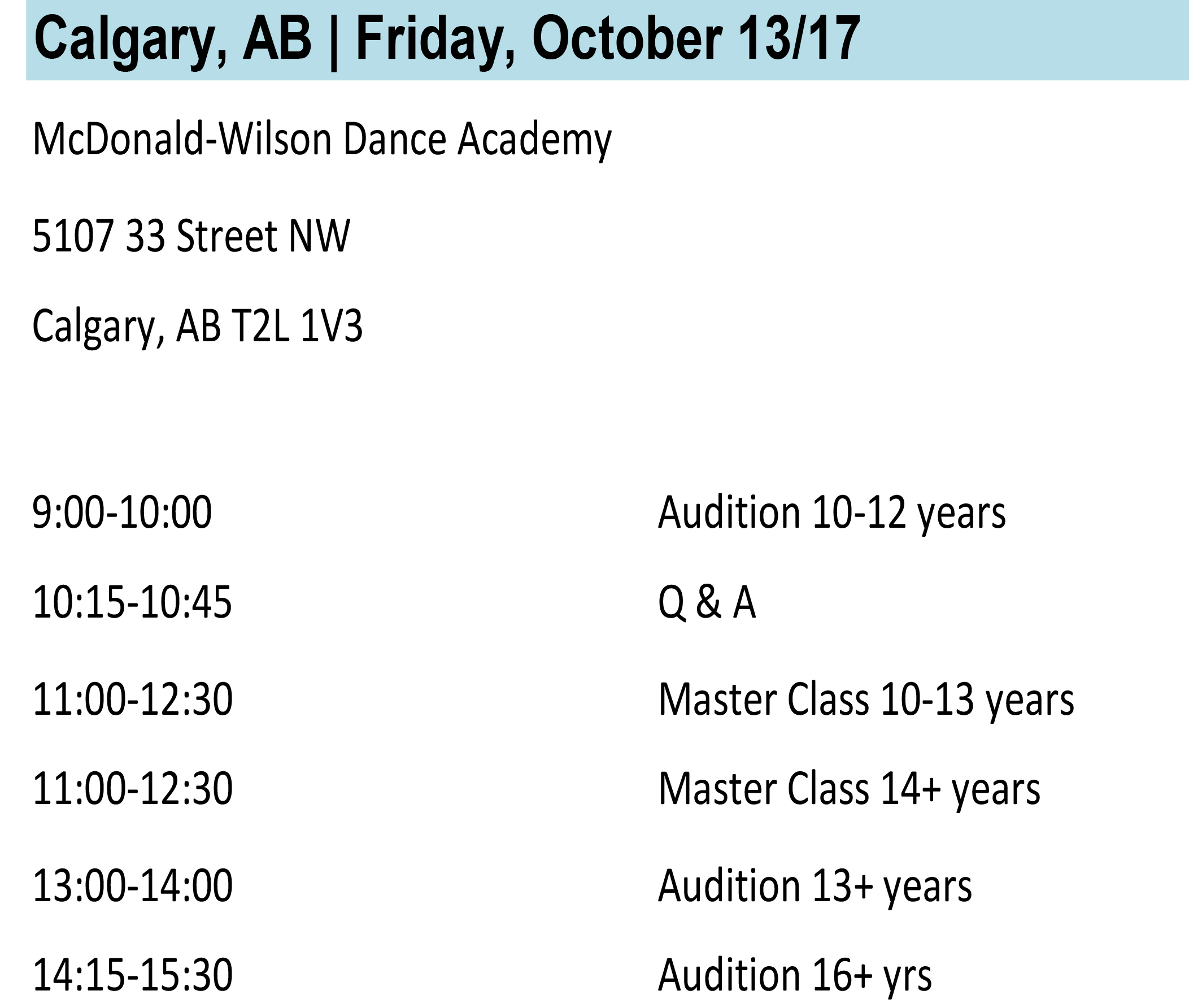Calgary Info