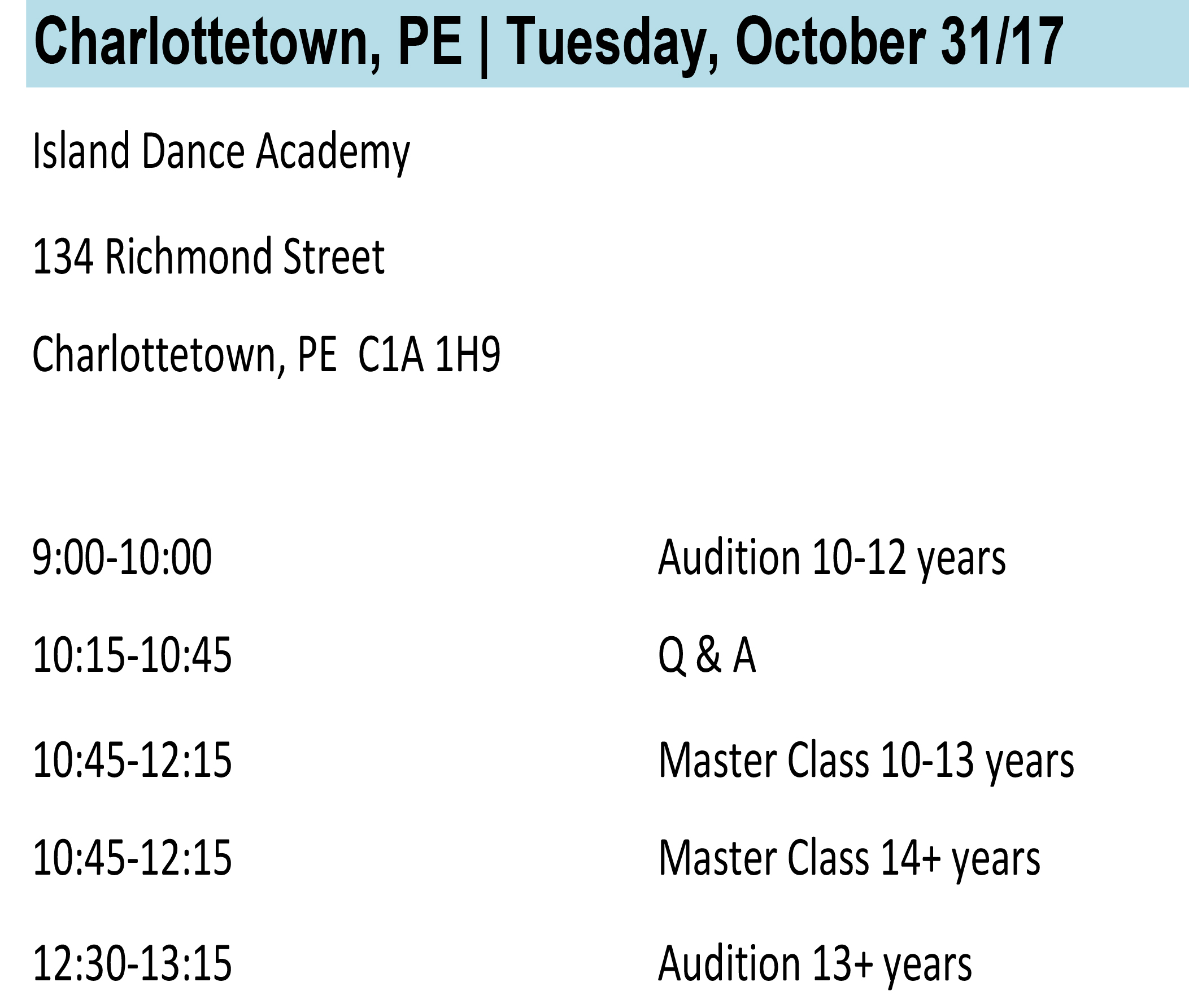 Charlottetown Info