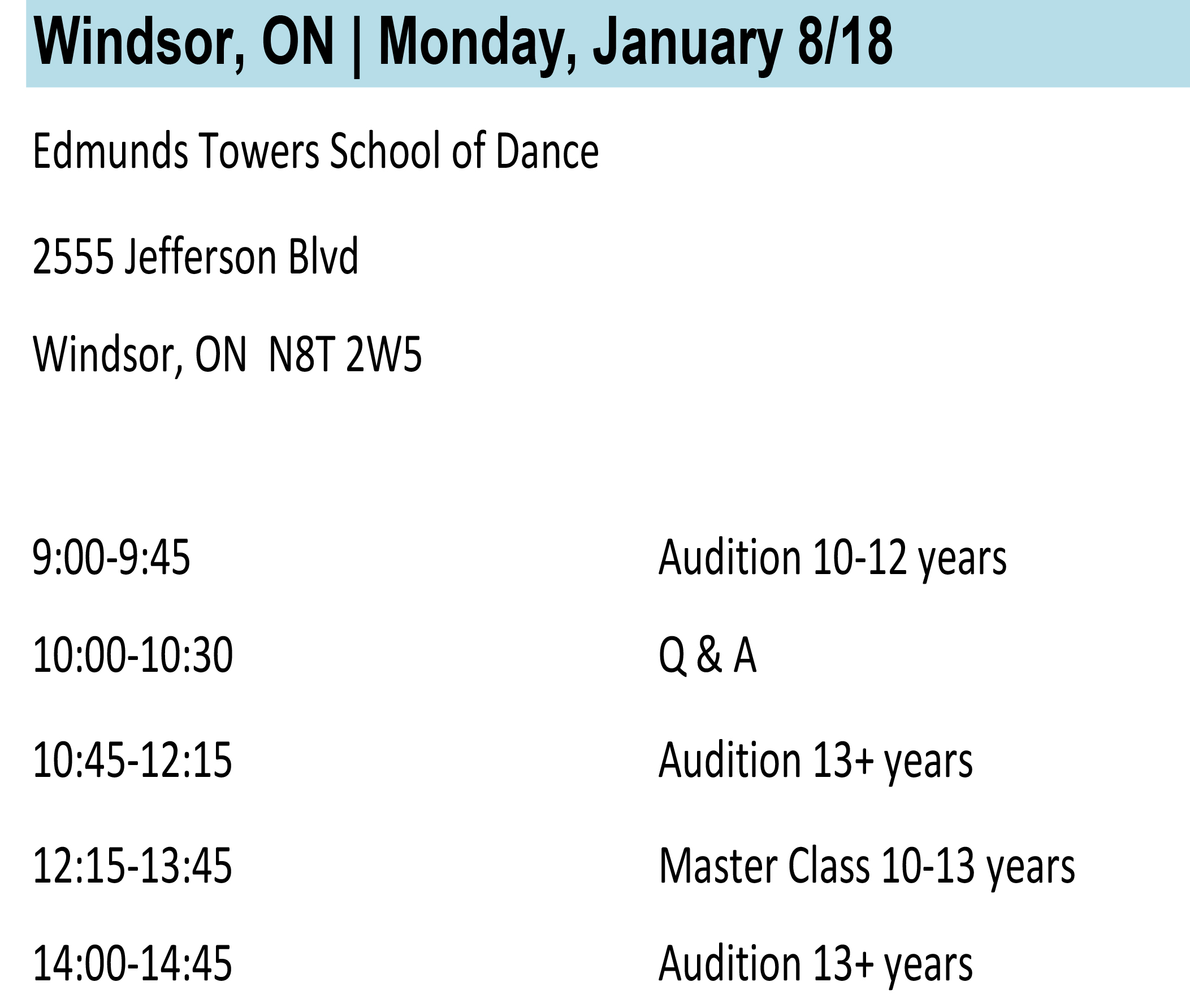 Windsor Info