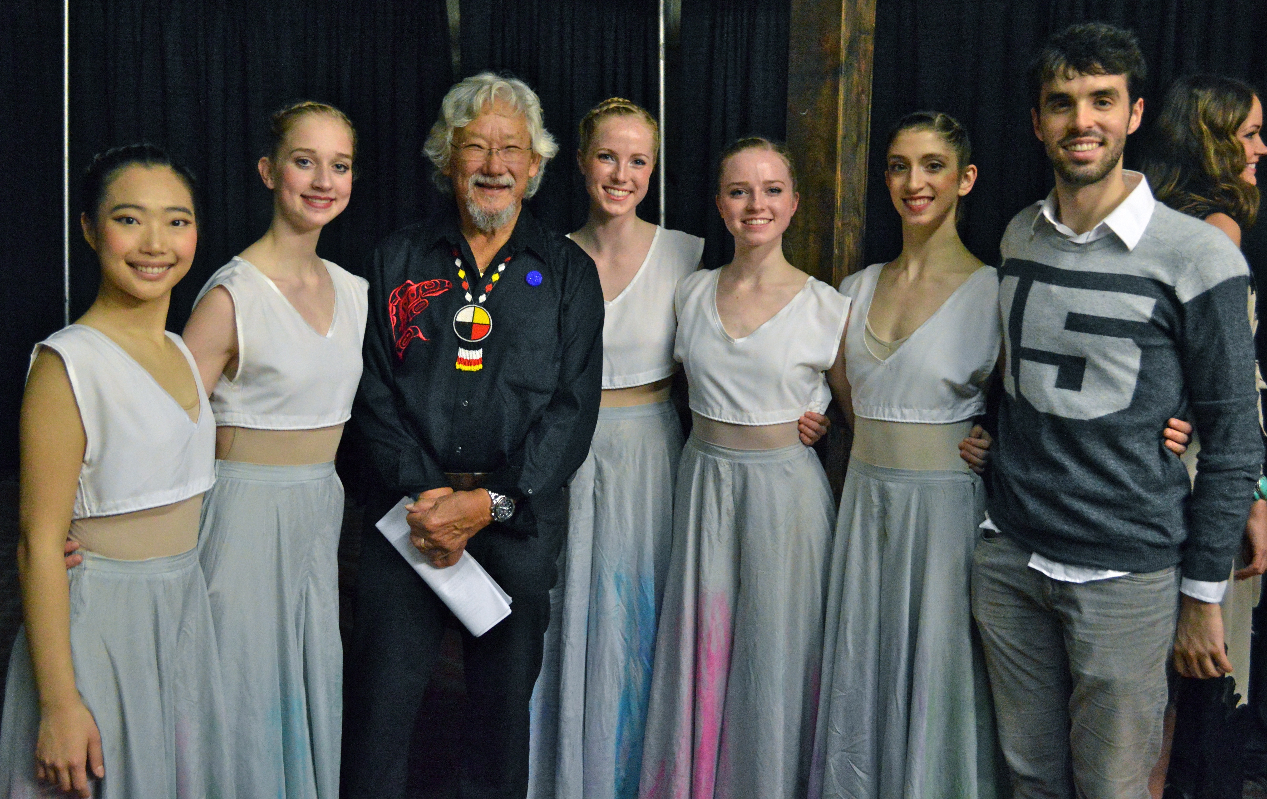 RWB School Professional Division Aspirants with David Suzuki. Photo: Jane Puchniak.