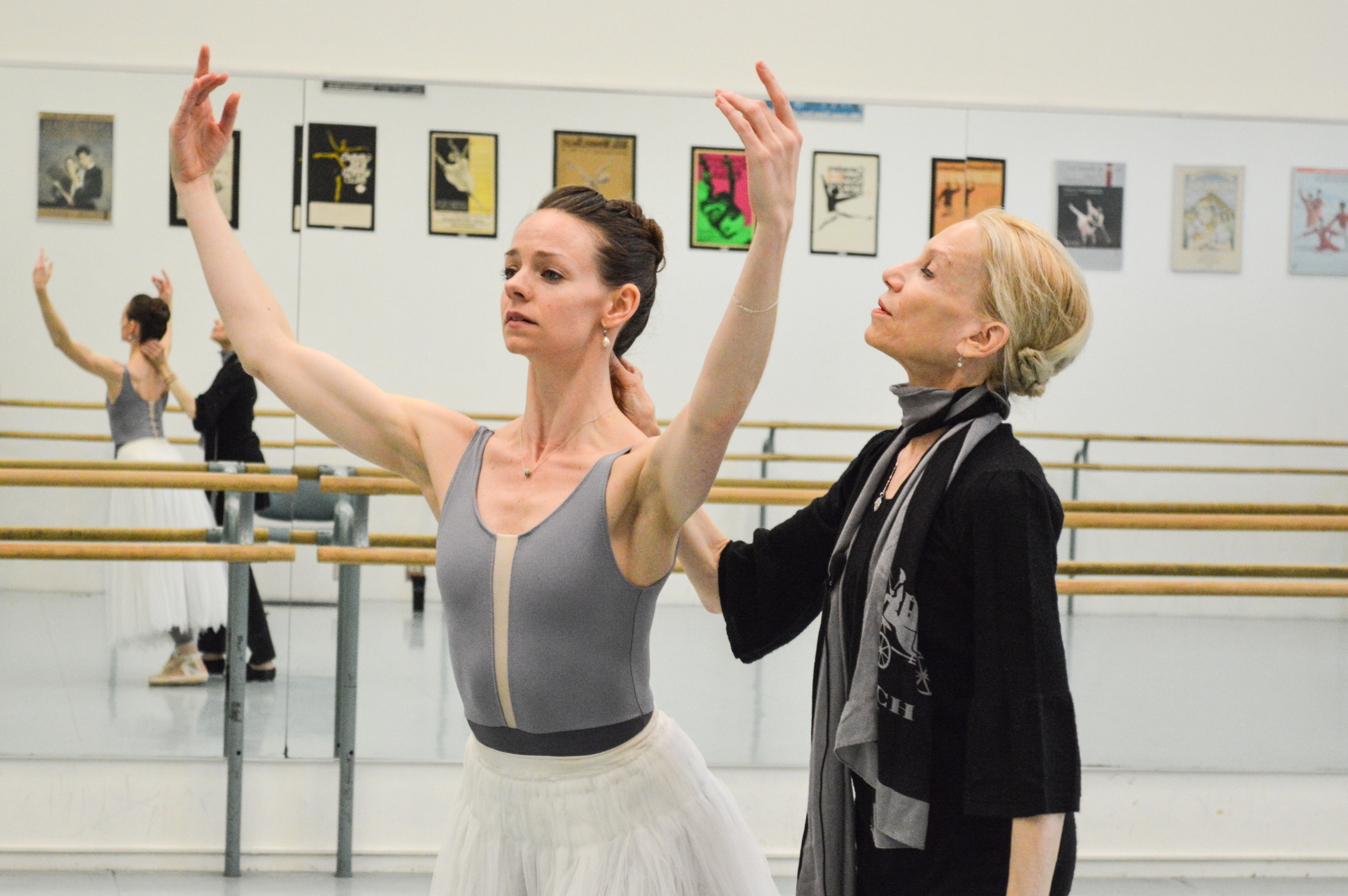 Company Dancer Jo-Ann Sundermeier with former Principal Dancer Evelyn Hart; Photo by Maria Neufeld