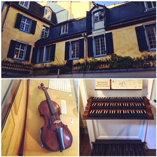 The Beethoven Haus…his house where he was born, his first violin and organ that he learned to play on.