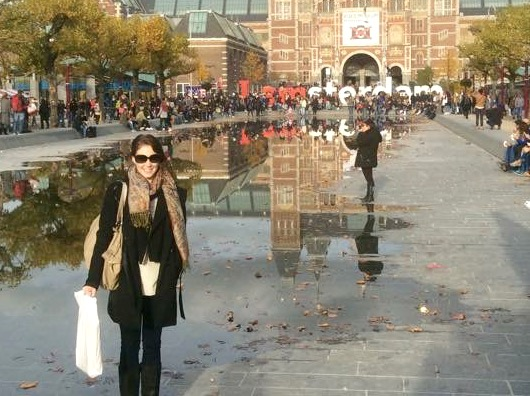 My attempt at a picture with the 'I Amsterdam' sign. Too many people!!