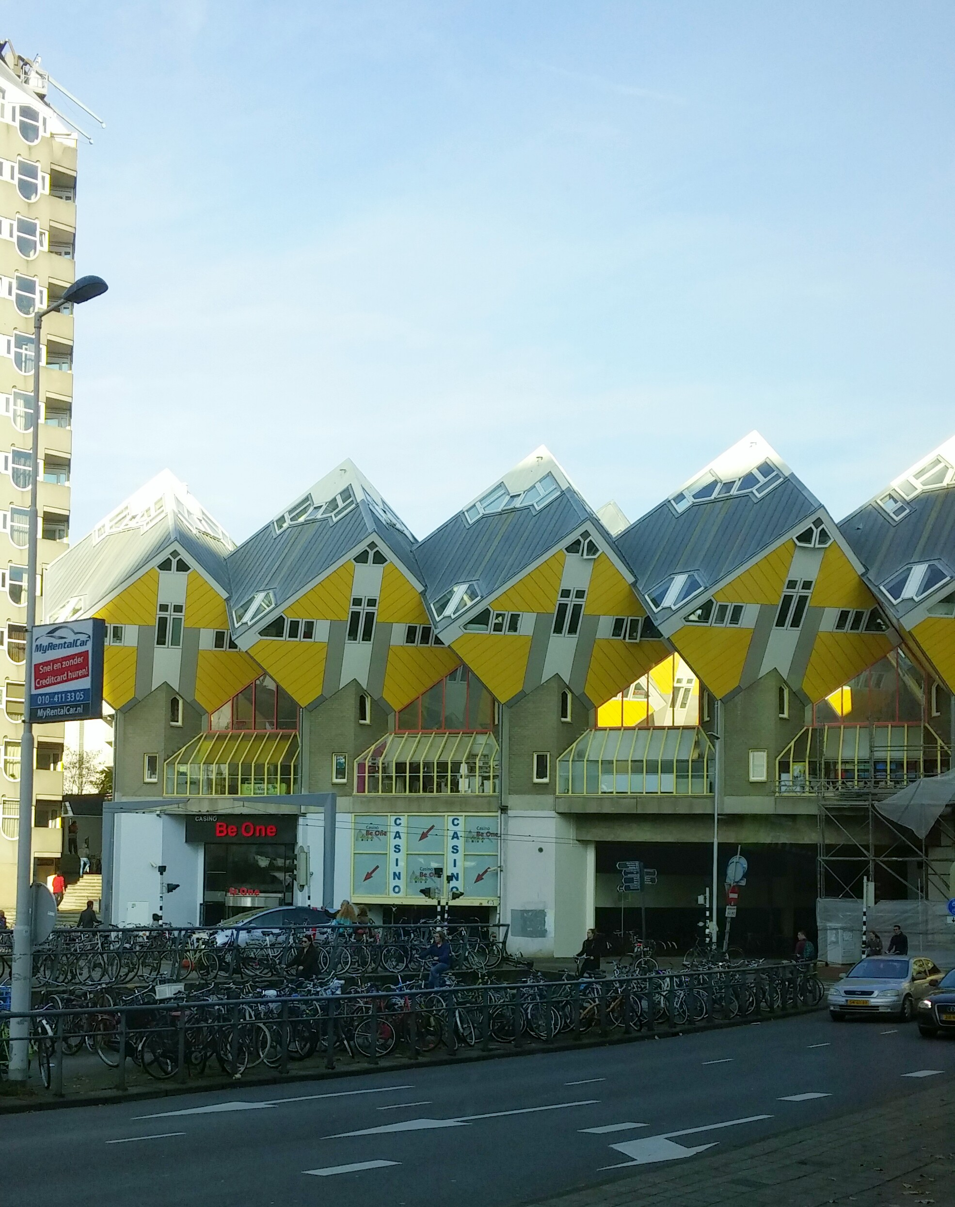Cube apartments in Rotterdam