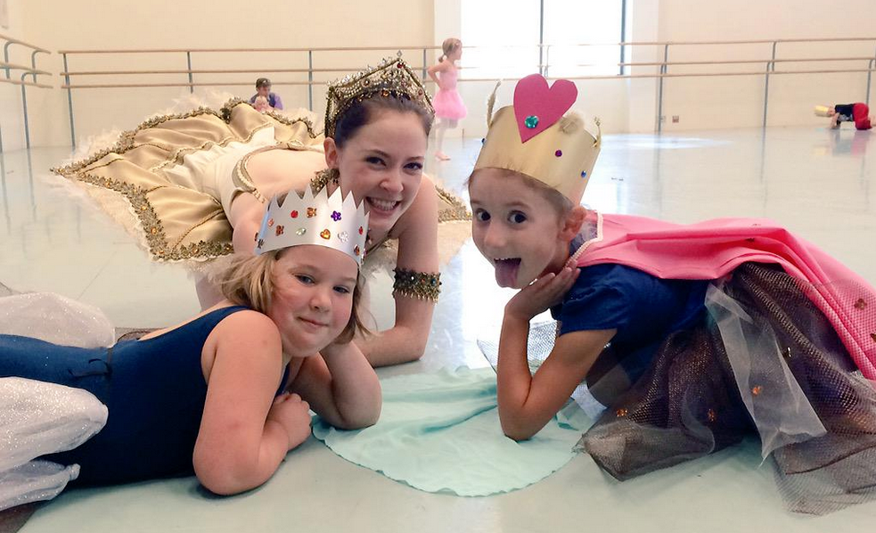 Company Dancer Katie Bonnell with cute ballerinas