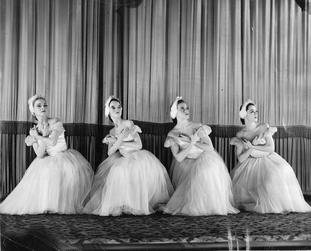 Dance of the Cygnets from Swan Lake Excerpts, with Kay Bird, Marilyn Young, Sheila Henderson and Janet Ferguson, 1951