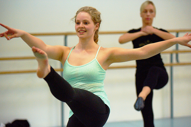 Students working hard in an Adult Summer Dance class. Photo courtesy of RWB.