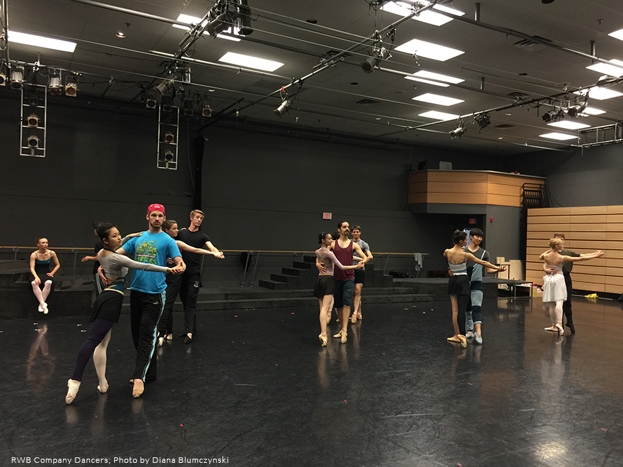 RWB Dancers in rehearsal for Twyla Tharp's The Princess and the Goblin