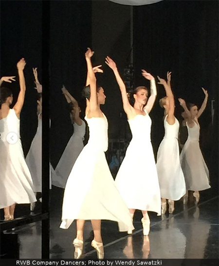 RWB Dancers in white dresses on stage at Twyla Tharp's The Princess and the Goblin