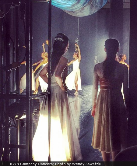 RWB Dancers Yayoi Ban and Saeka Shirai backstage at Twyla Tharp's The Princess and the Goblin