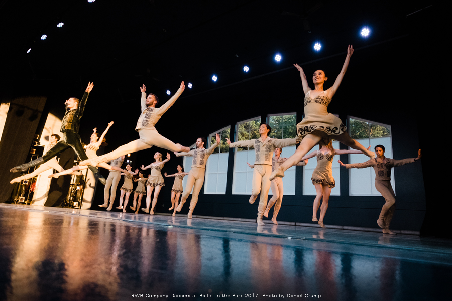 Photo of RWB Company Dancers performing at Ballet in the Park
