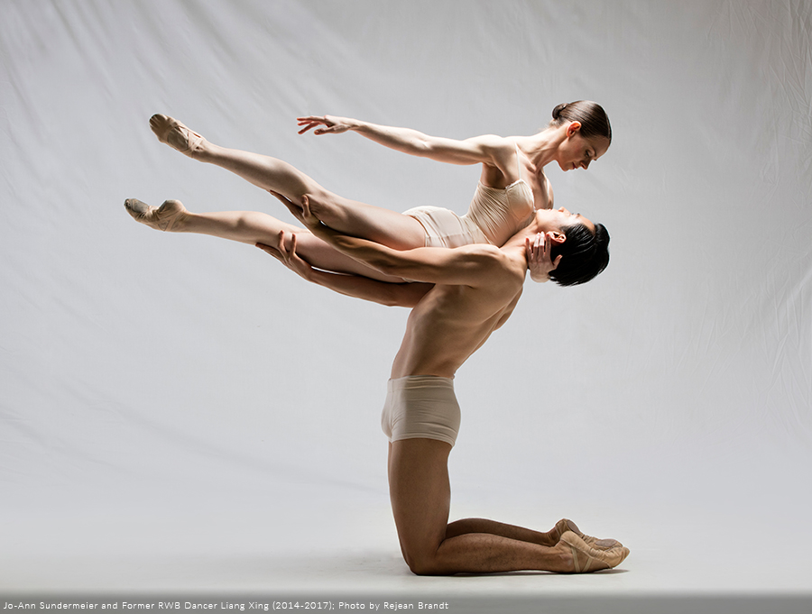 RWB Company Dancers in a Ballet Pose