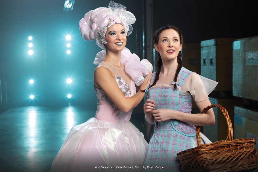 RWB Company Dancers Jaimi Deleau and Katie Bonnell in costume.