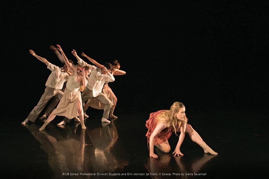 RWB School Professional Division Students performing a contemporary ballet