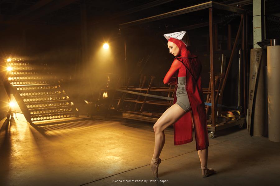 RWB Dancer Alanna McAdie posing in costume.