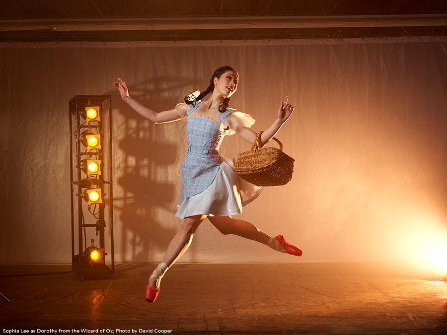 Sophia Lee as Dorothy from the Wizard of Oz; Photo by David Cooper