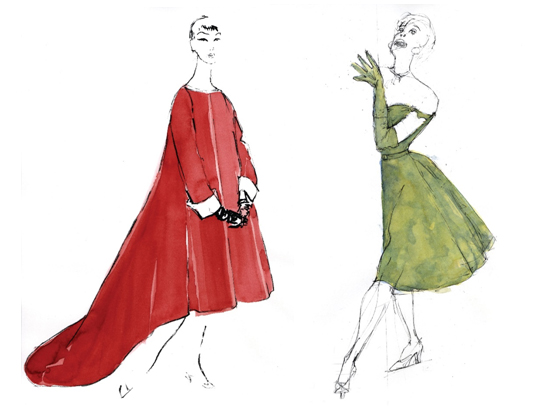 RWB Wardrobe department sketches by Sandra Woodall