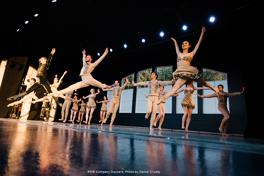 RWB Company Dancers on stage at Ballet in the Park 2017