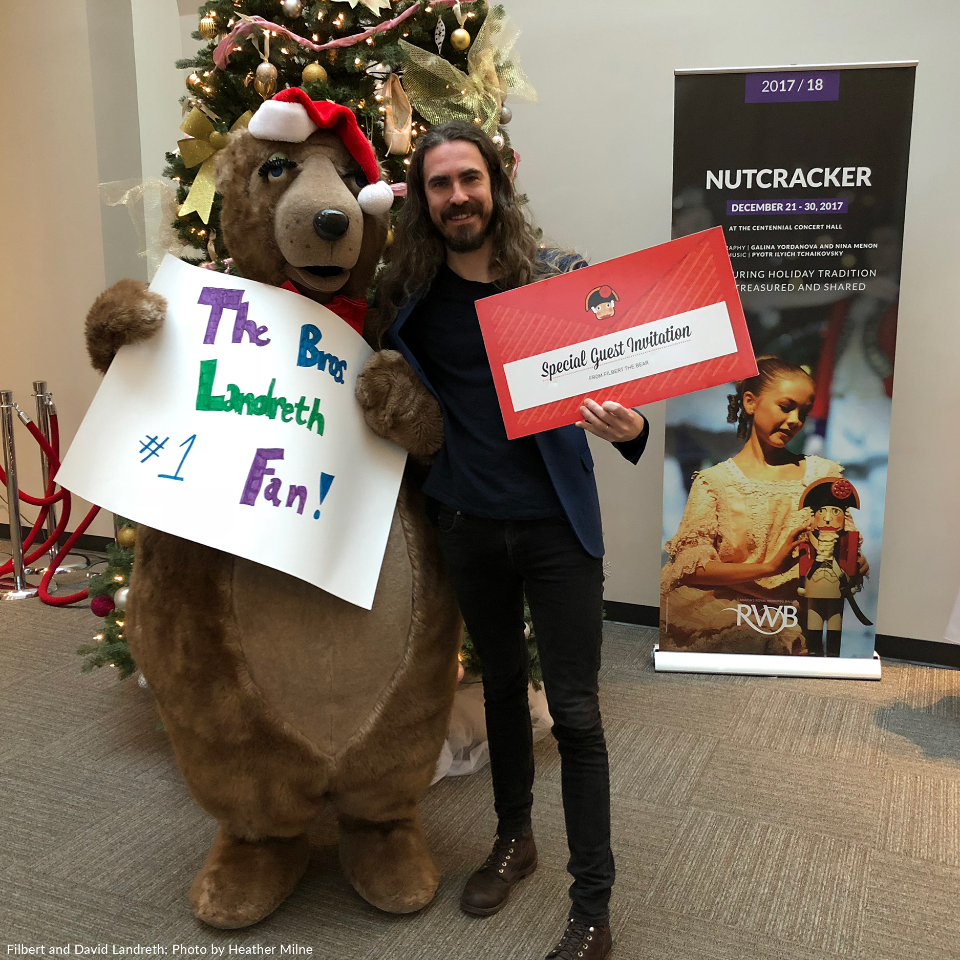 RWB's Filbert the Bear with David Landreth