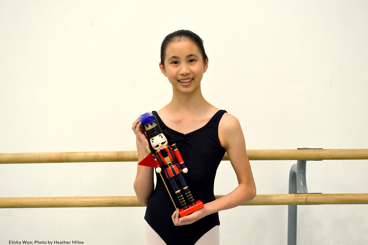 Elisha Woo, Level 3 student in the RWB School Professional Division, cast as young Clara in this year's Nutcracker