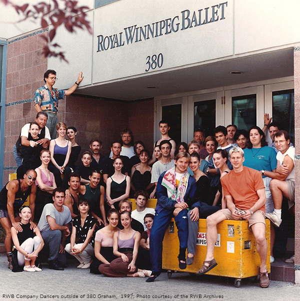 RWB Company dancers outside of 380 graham 1997