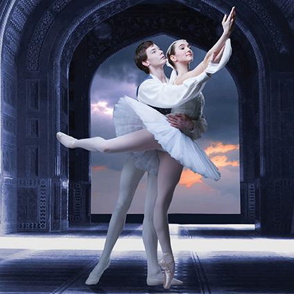 """<font color=#59178a>La Bayadèrè: <br><p style=""""font-size:smaller"""">Kingdom of the Shades + Ballet Vignette</p>"""